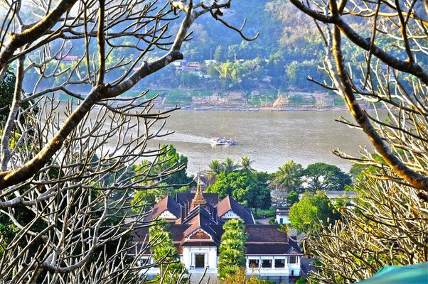 vue du Wat Phou à Luang Prabang