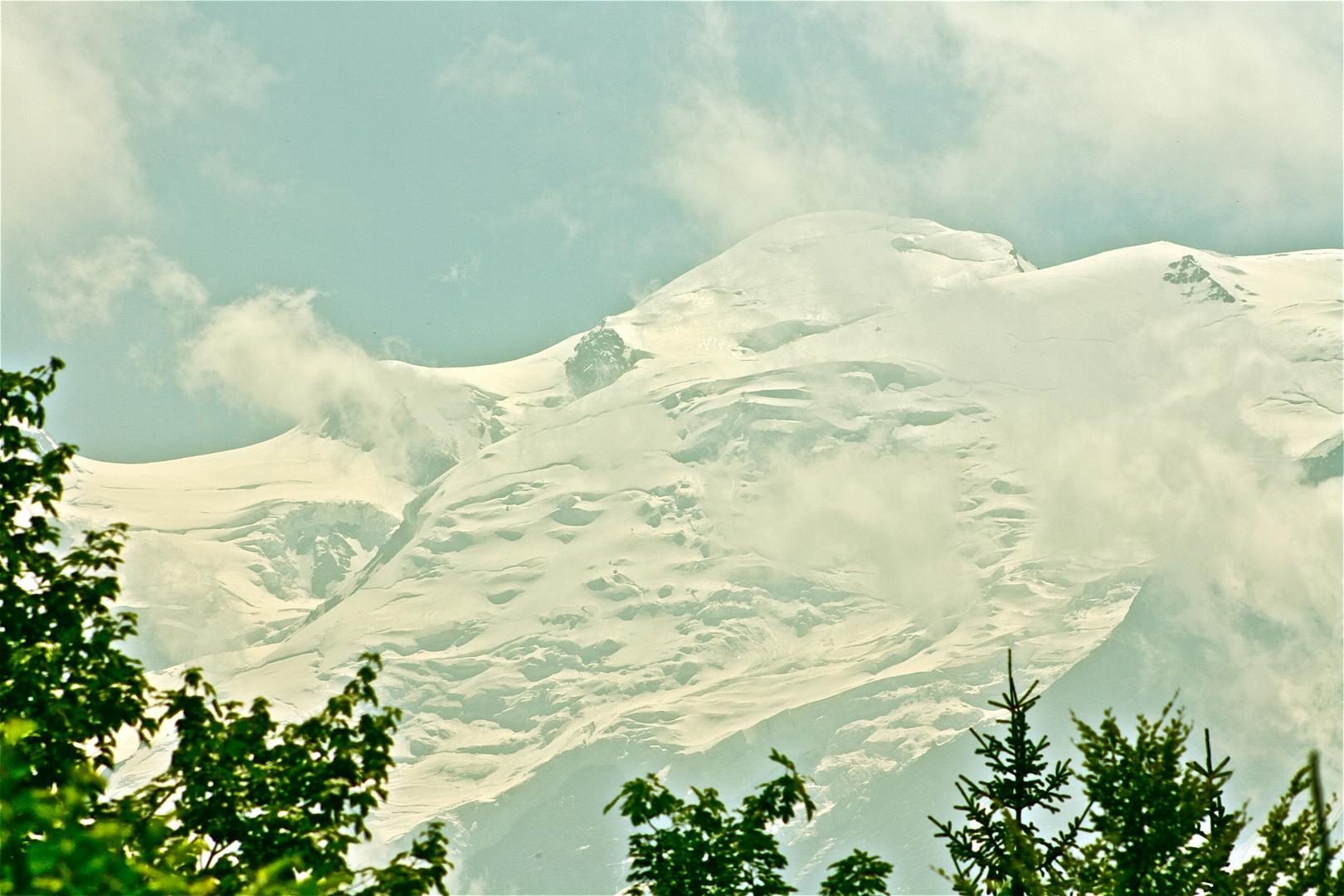 vue mont blanc depuis lac vert