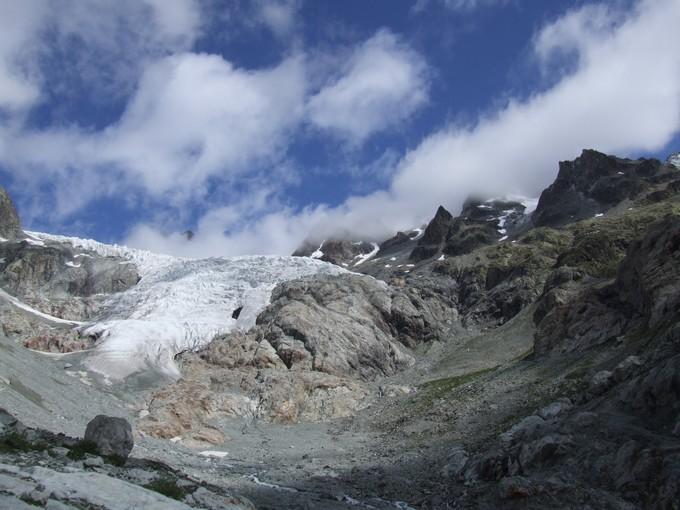 Vue sur glacier