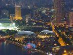 VUE SUR LA VILLE SINGAPOUR A PARTIR DU MARINA BAY SANDS