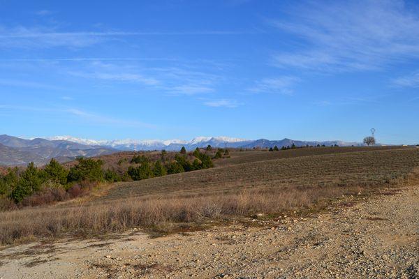 Vue sur le Cheval Blanc (Digne les Bains)