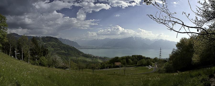Vue sur le Léman depuis les Pléiades (Suisse)