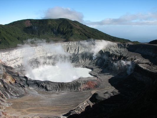 Vulcano Poas en Costa Rica
