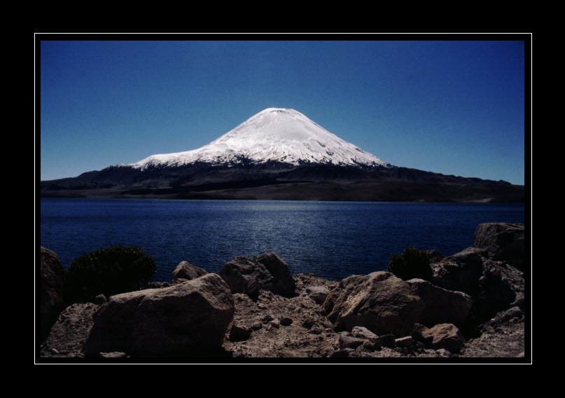 Vulkan Sajama am Lago Chungara