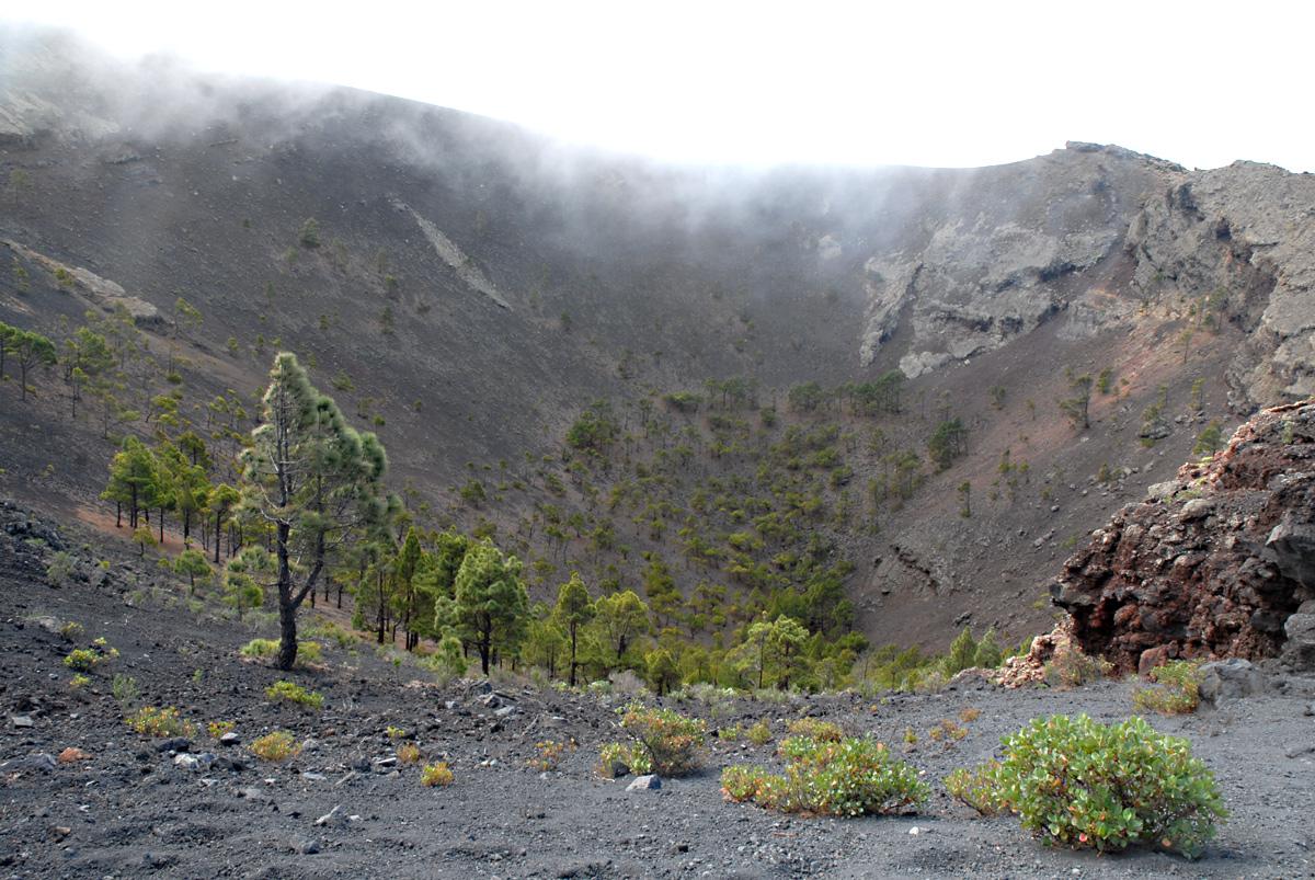 Vulkankrater auf La Palma