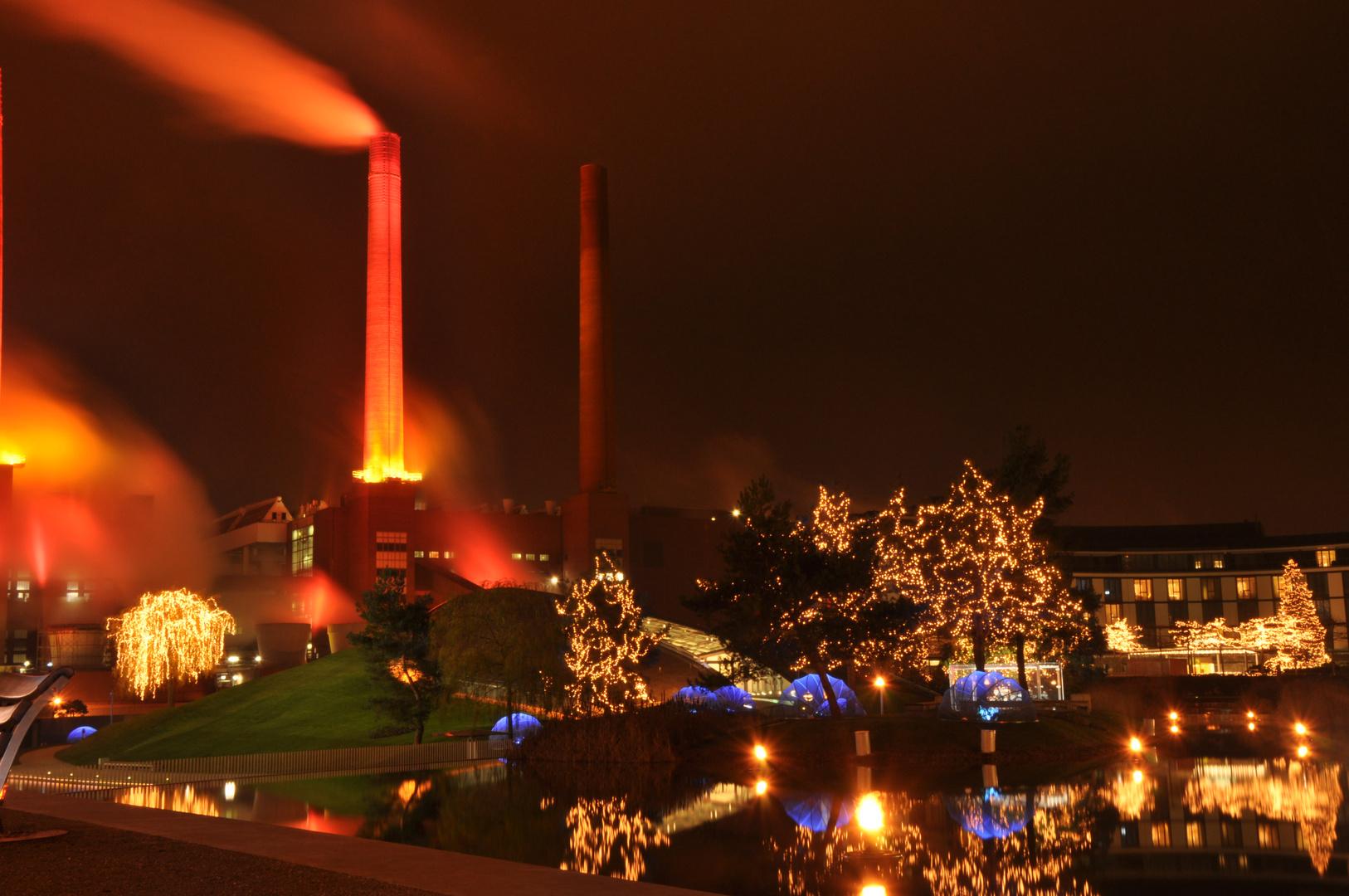 VW - altes Kraftwerk im Advent