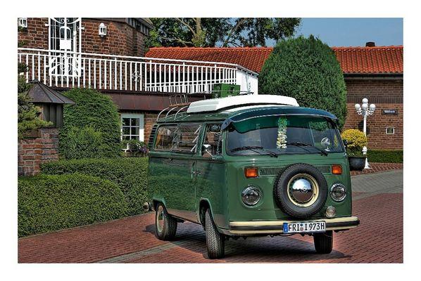 VW - Bulli, fertig zumTreffen der Luftgekühlten in Cuxhaven