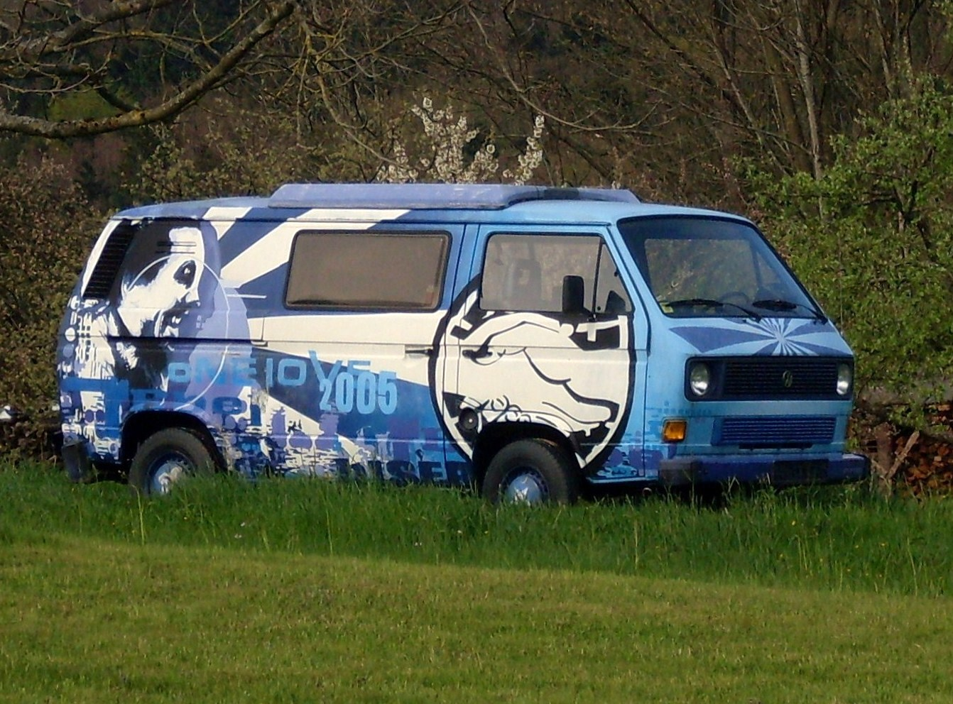 VW Bulli T 3 Sonderlackierung