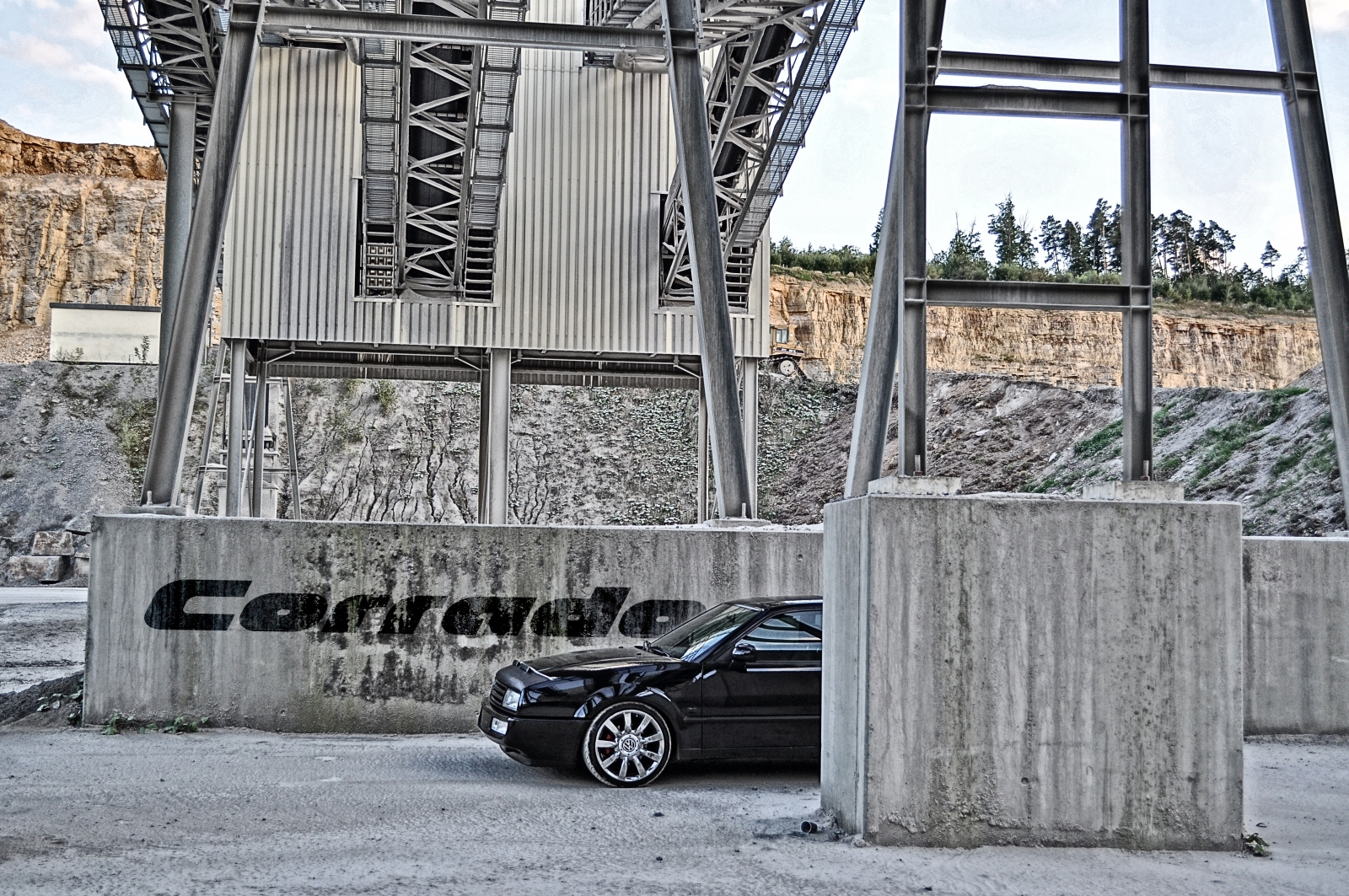 VW Corrado @ Steinbruch_2