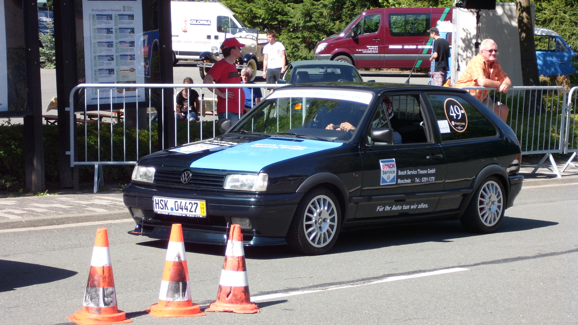 VW Polo Coupe meines Bruders Claus beim 3. Sauerland - Bergpreis Ramsbeck