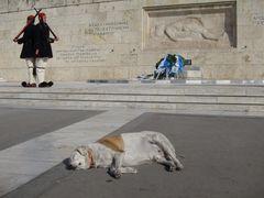 Wachwechsel vor dem Parlament in Athen
