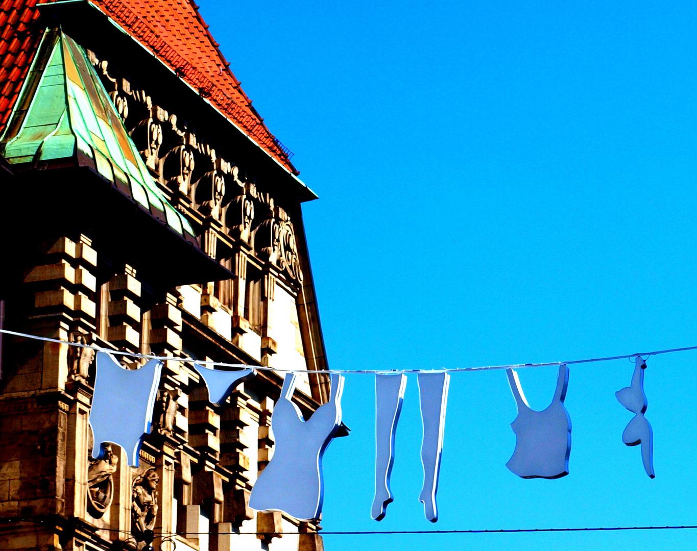 Wäsche am Polizeihaus