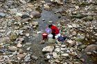 Wäsche waschen im Yandang Shan