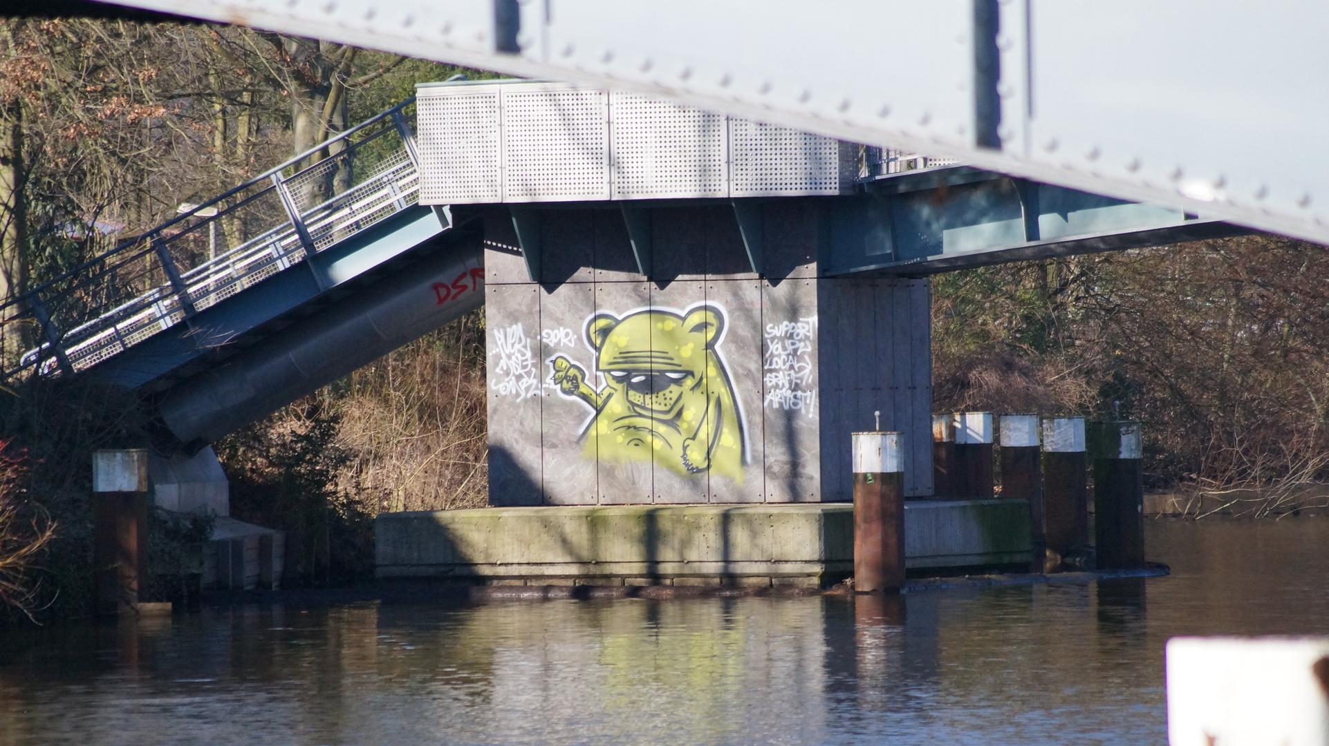 wässriges Graffiti