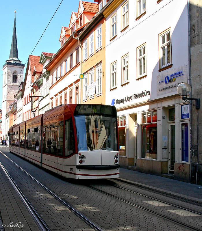 ... Wagen 629 in der Altstadt von Erfurt...