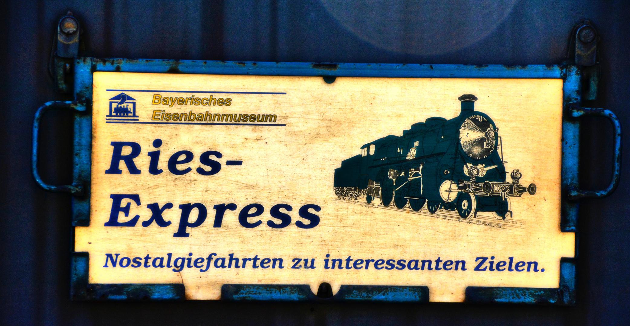 "Wagonschild ""Ries-Express"""