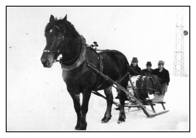 wahrscheinlich 1945   Schnapstransport