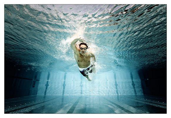 Wahrscheinlich ein Schwimmer