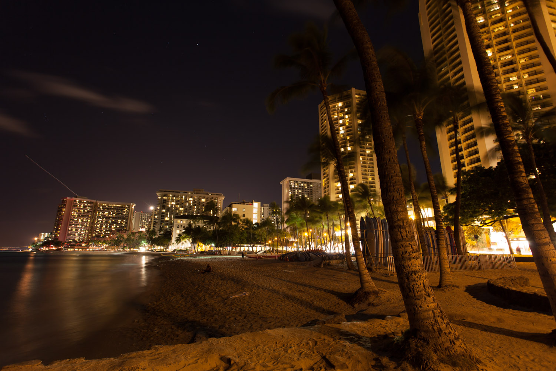 Waikiki Beach by Night