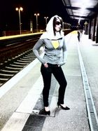 waiting for a train!!!