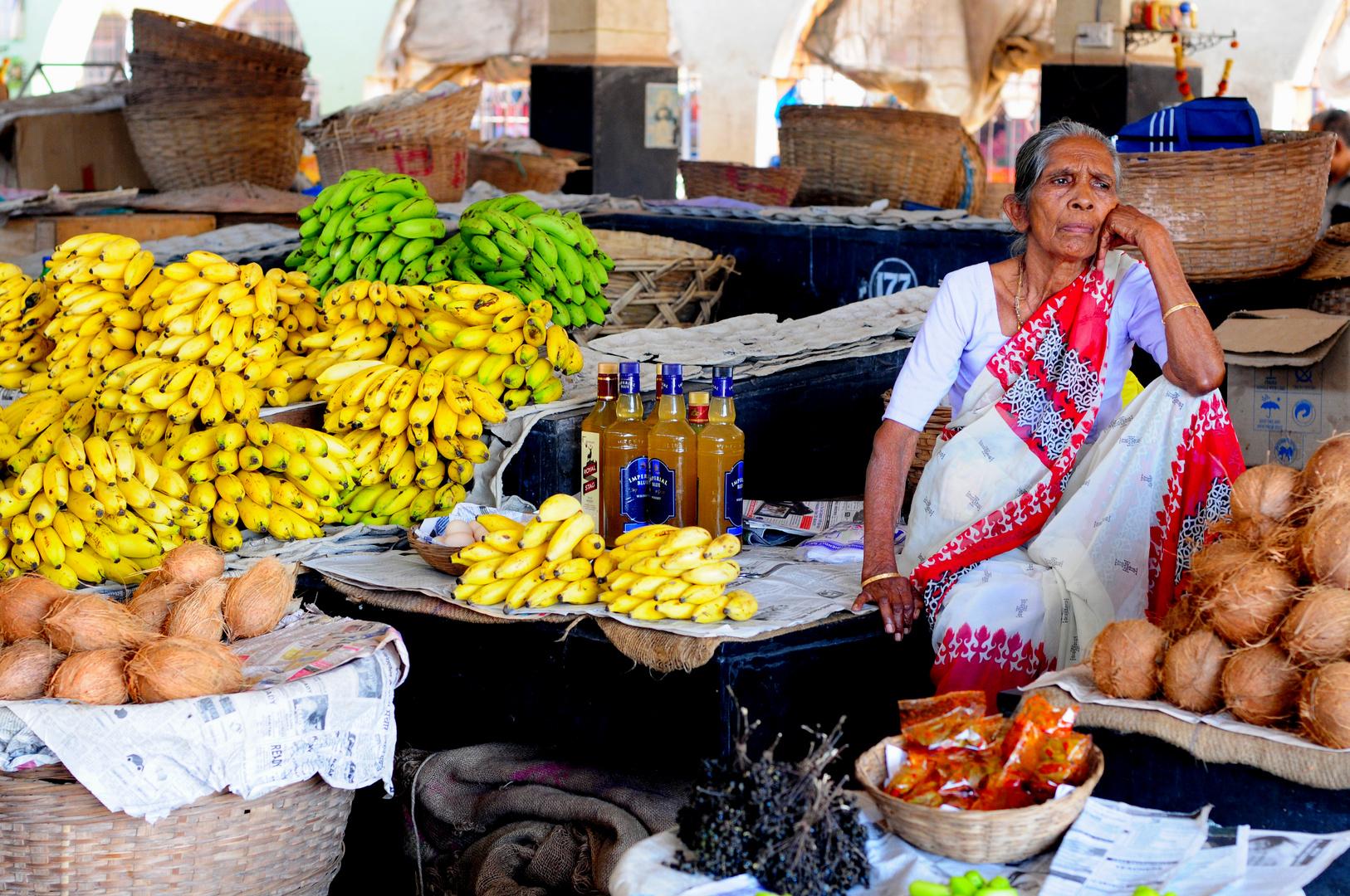 Waiting for Customers - Grocery Market, Margao, Goa, India