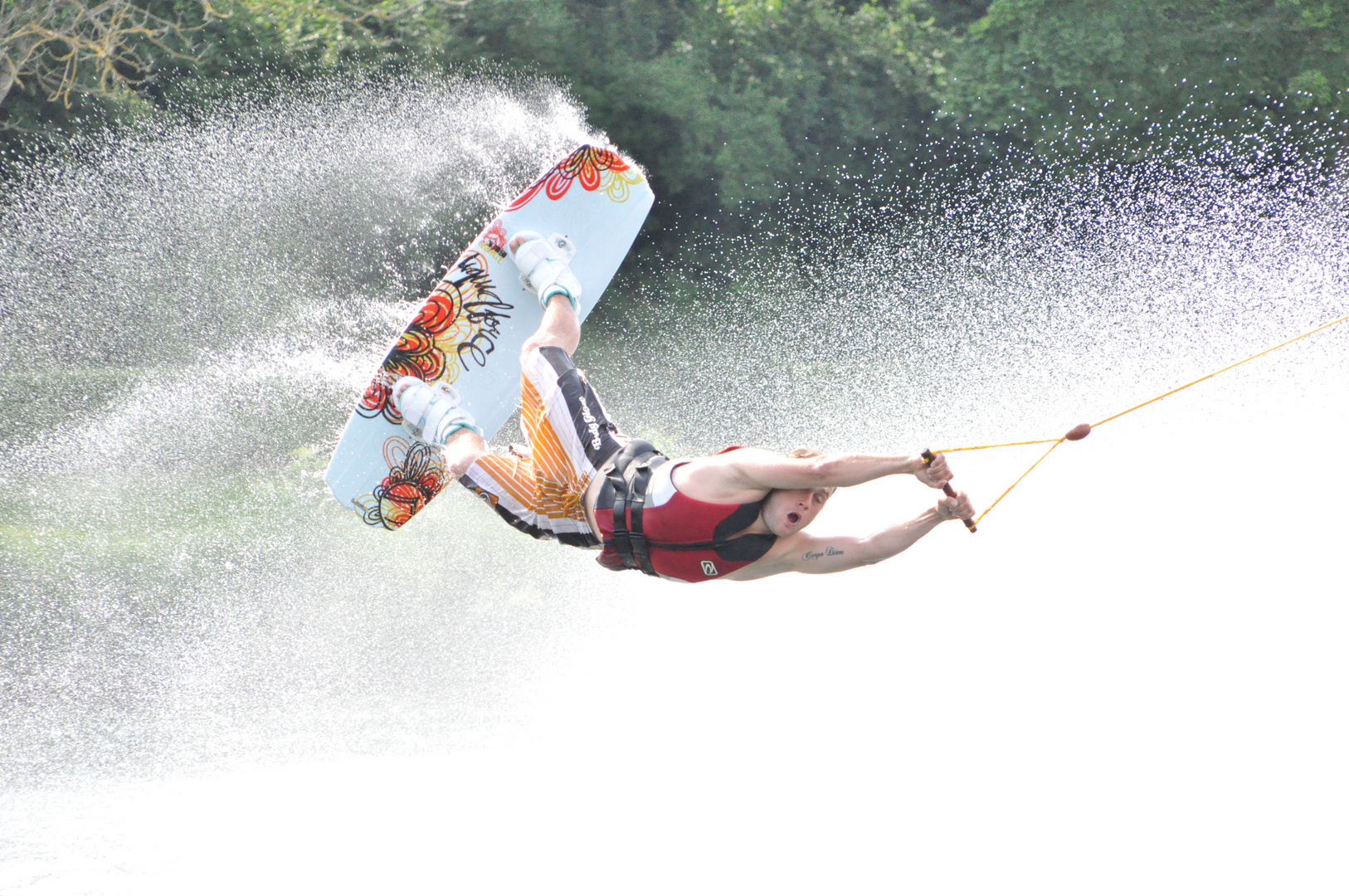 Wakeboard-Artist in Action