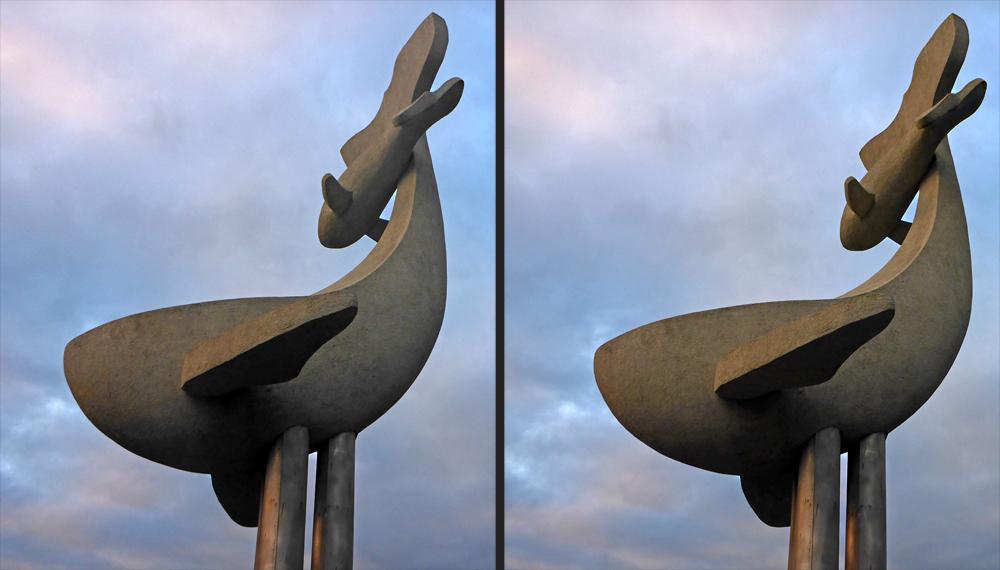 Wal-Skulptur 2