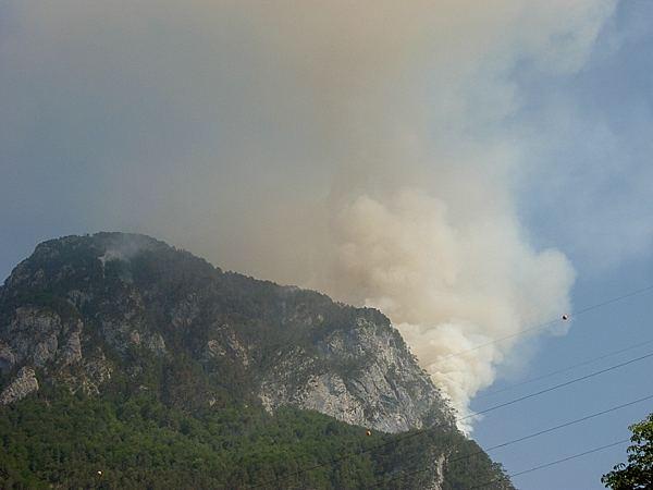 Waldbrand im Kanaltal