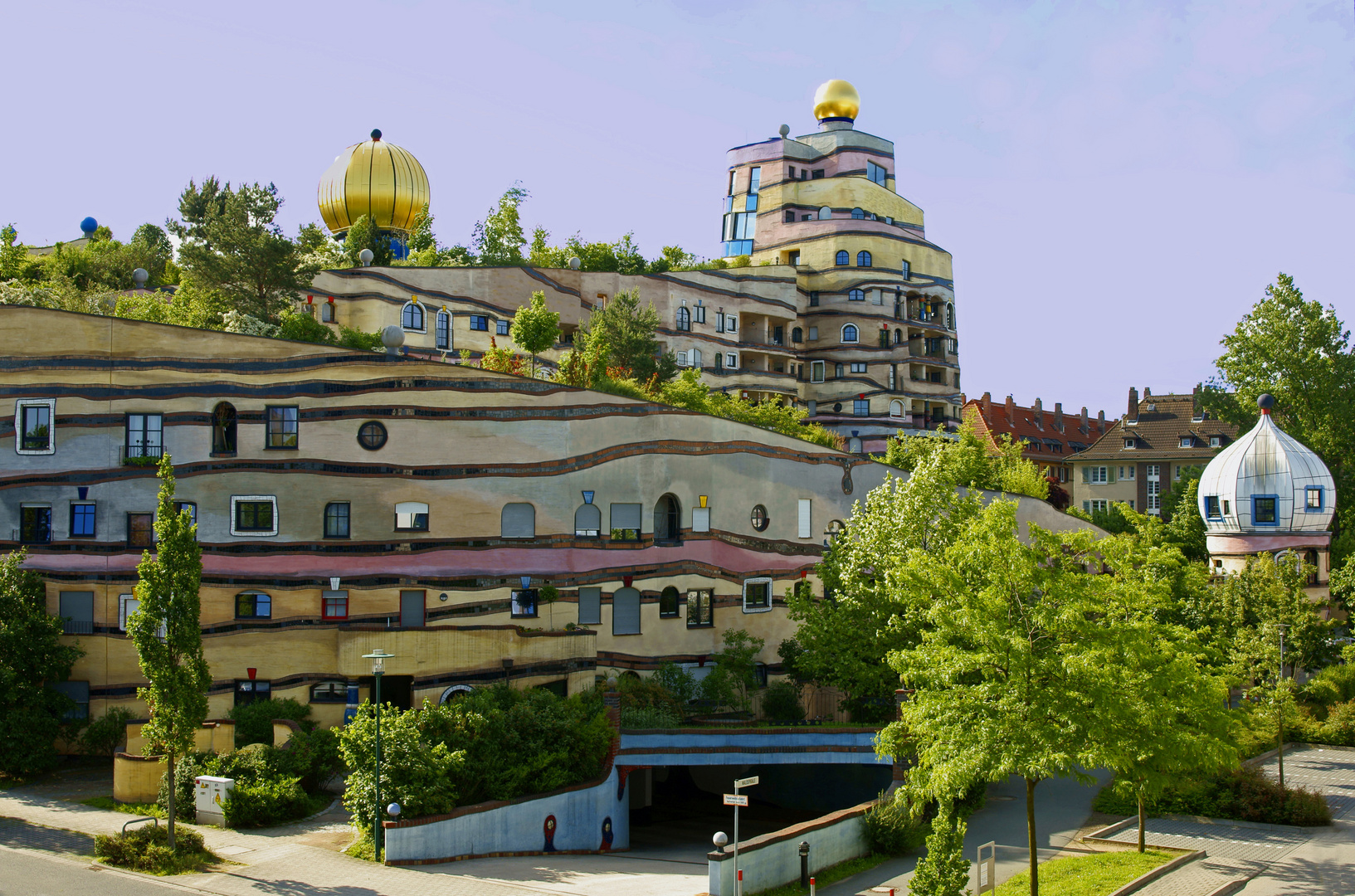 Waldspirale, Hundertwasserhaus in Darmstadt