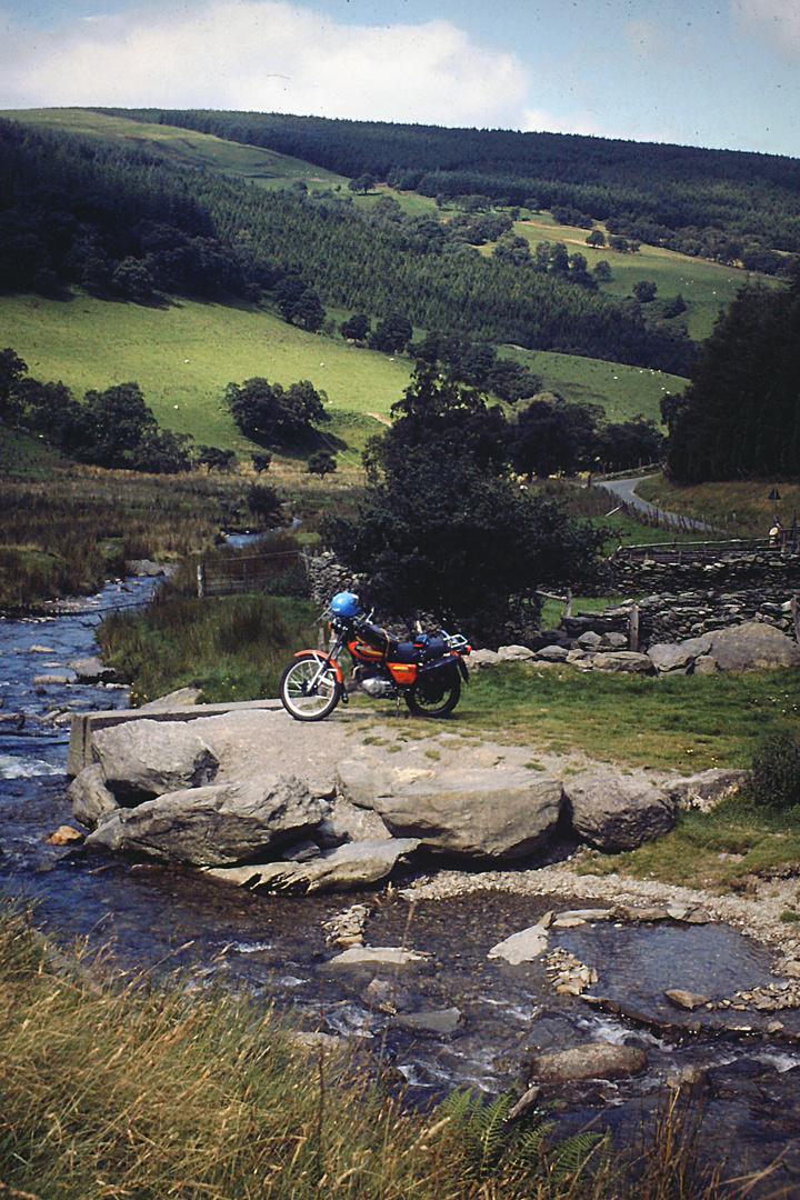 Wales mit der XL 500 S /Scan vom Dia