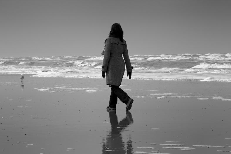 Walk at the Sea