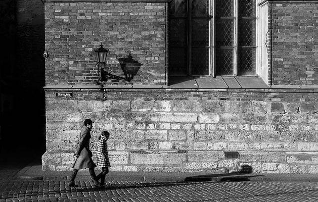 walk following the shadow