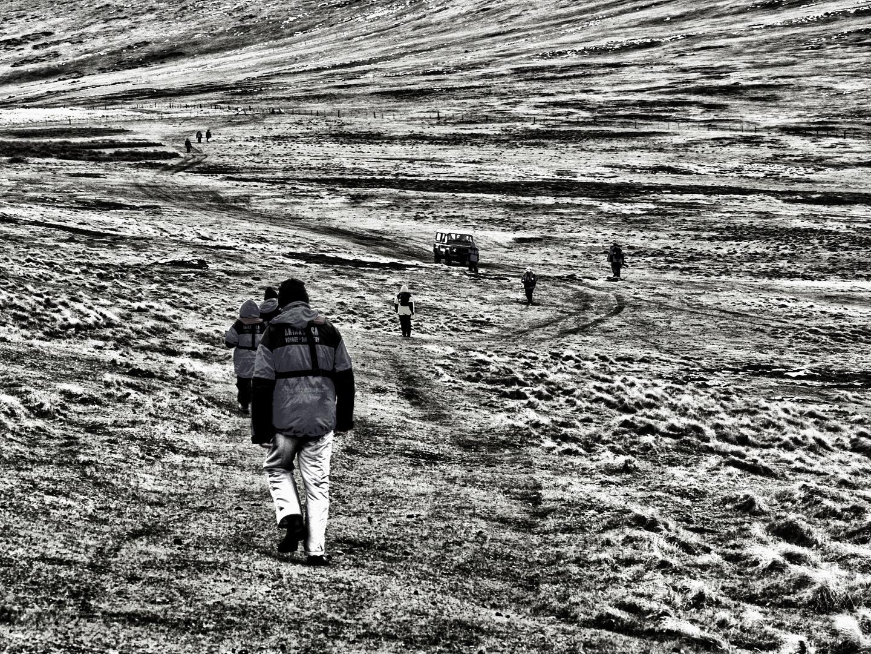 walking ...