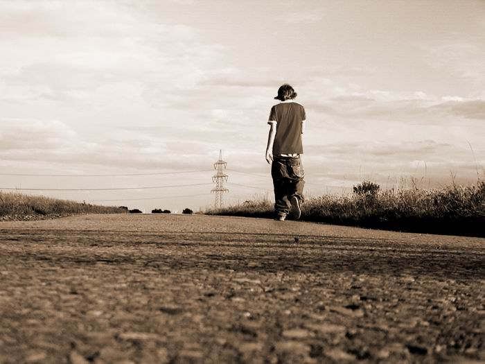 walking away from all the trouble