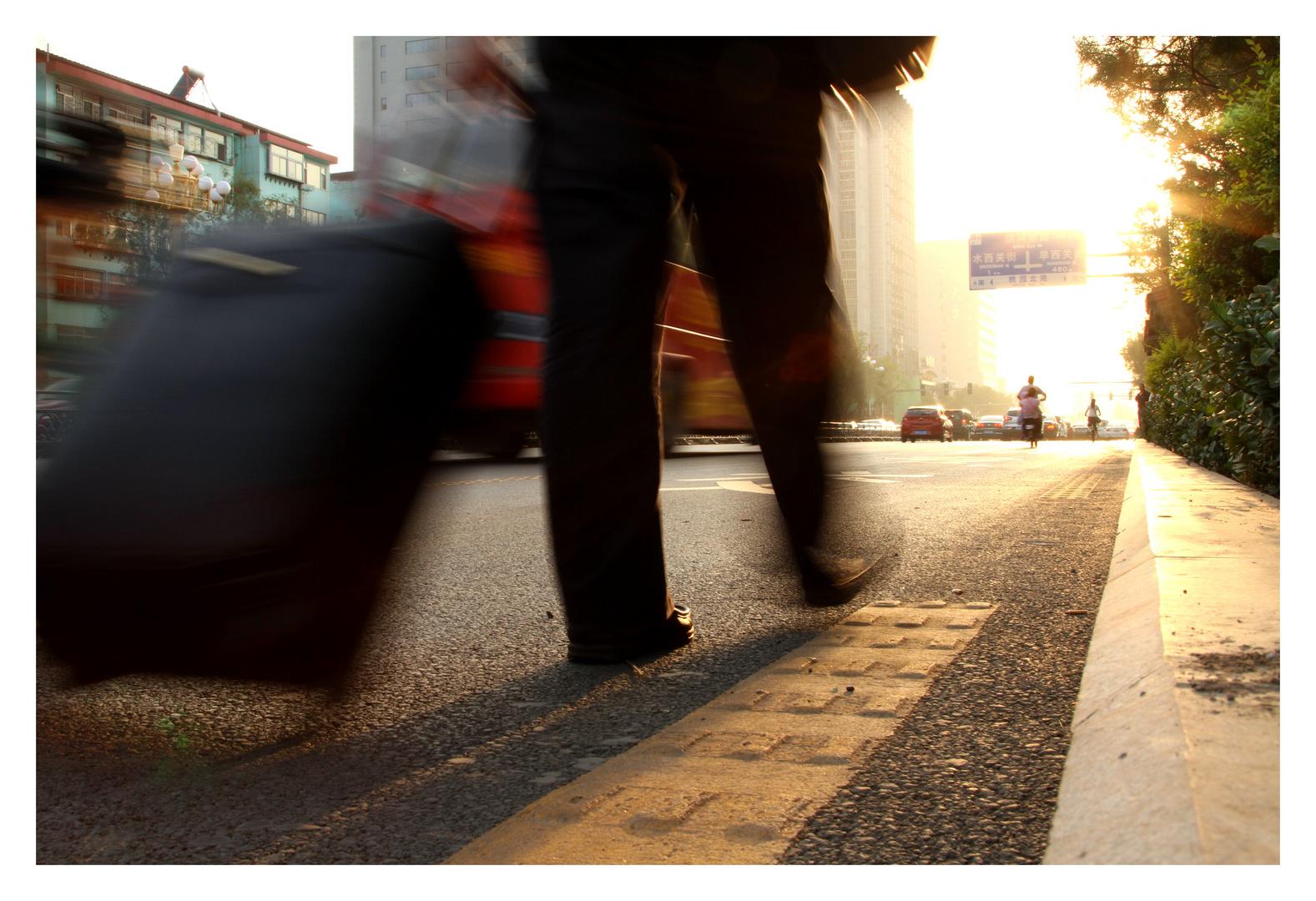 Walking down the Street - Taiyuan China