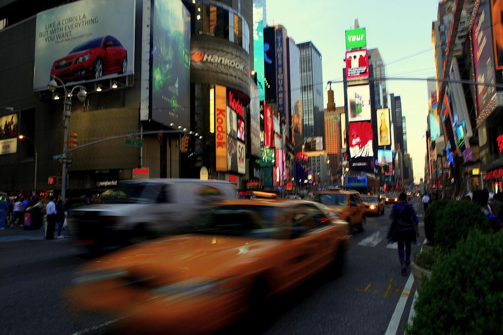 walking in New York City