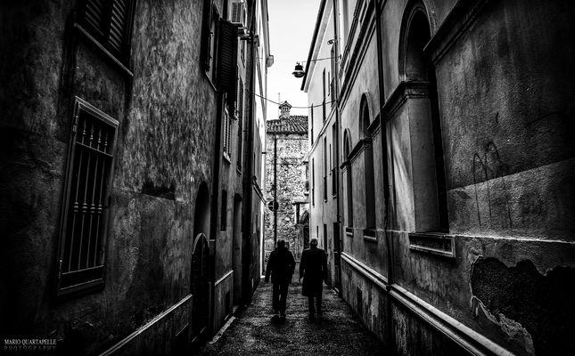 Walking in the dark city