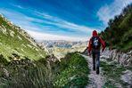 Walking in the mountain