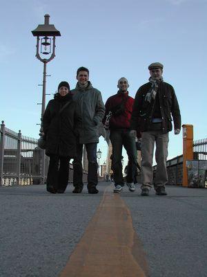 Walking on Brooklyn Bridge