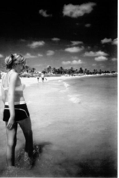 Walking the beach along