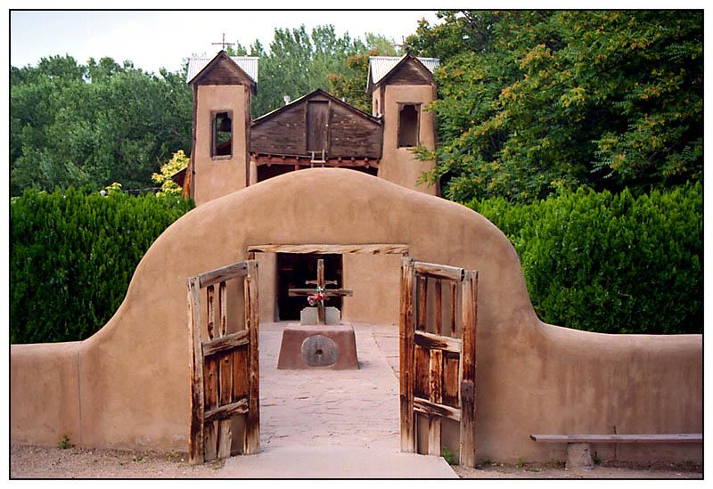 Wallfahrtskirche von Santuario di Chimayó, New Mexico;