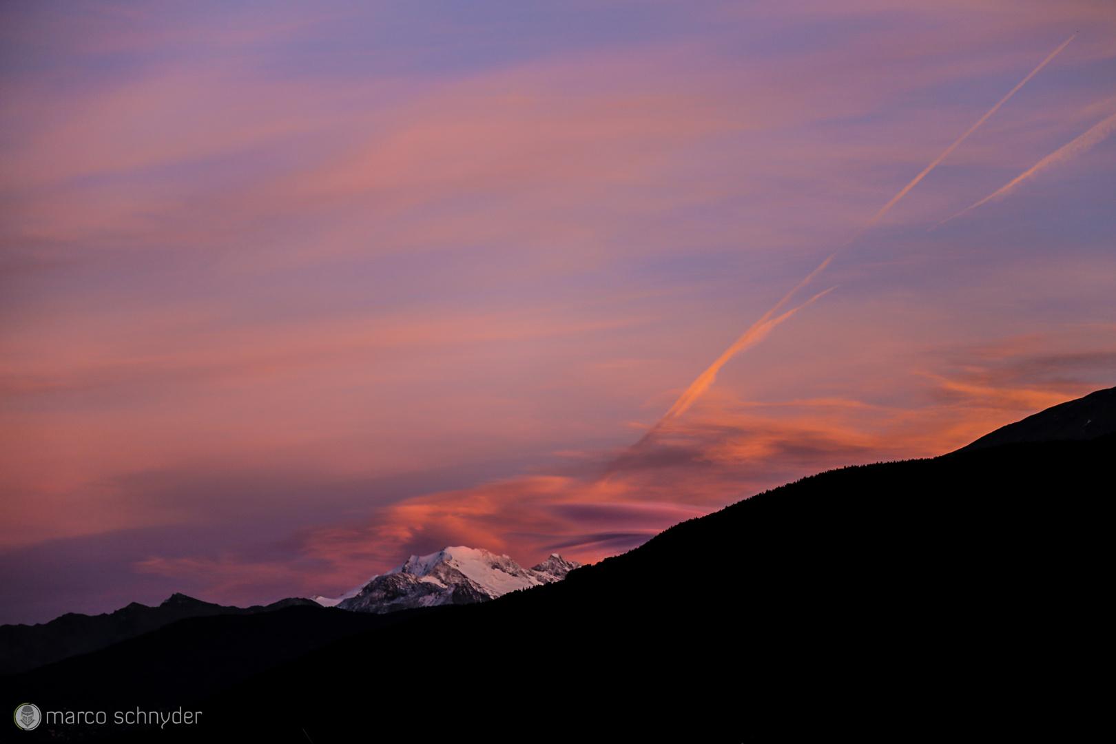Walliser Alpen in der Abendsonne ;)