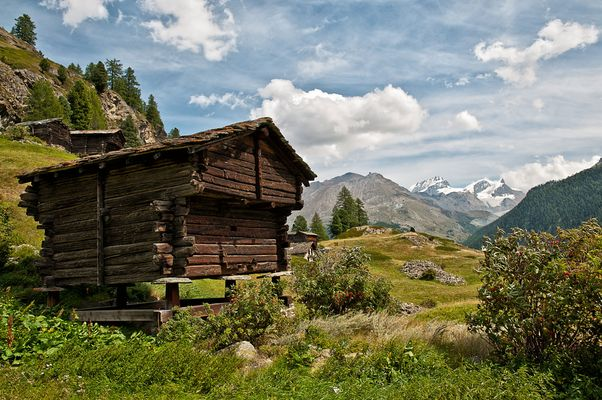 Walliser Holzhütte - Zmutt