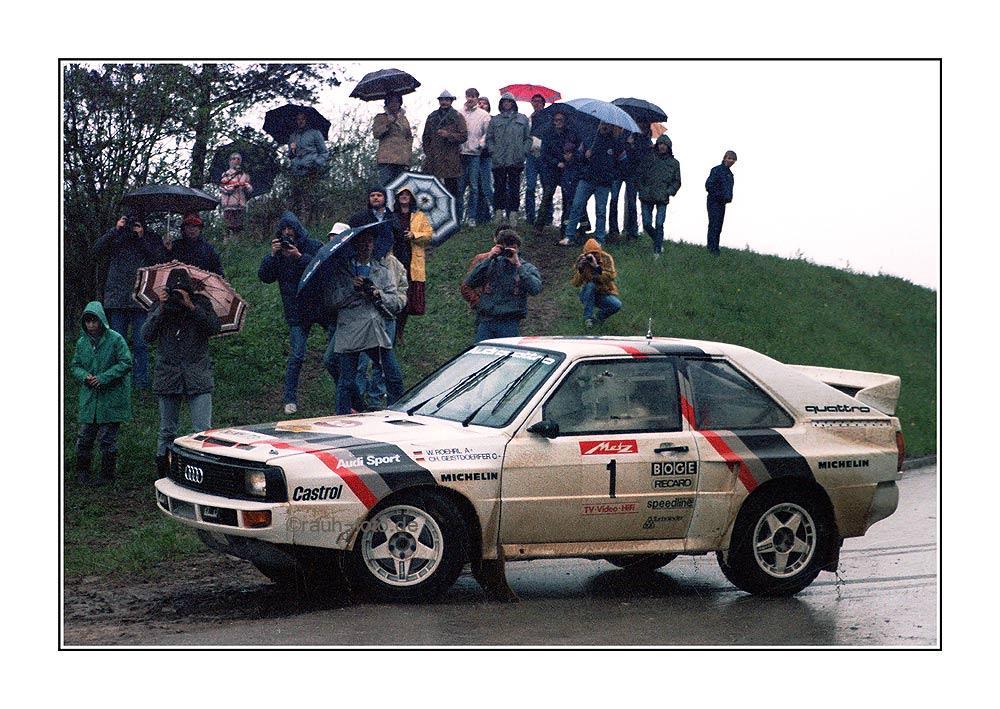 Walter Roehrl Audi Quattro Metz Rallye