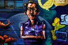 Wand Graffiti mitten im Herzen von Bingen am Rhein