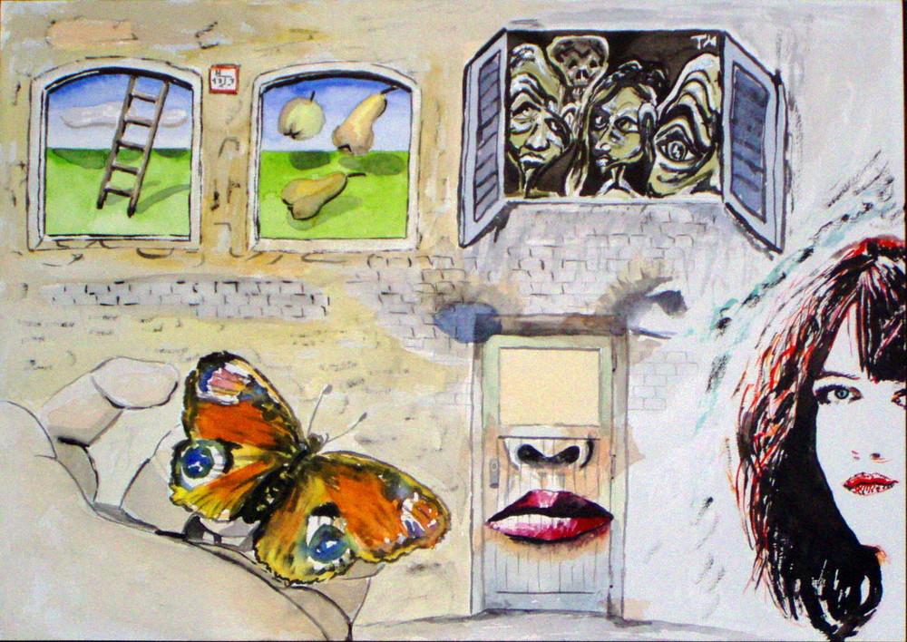 Wand-Malerei X