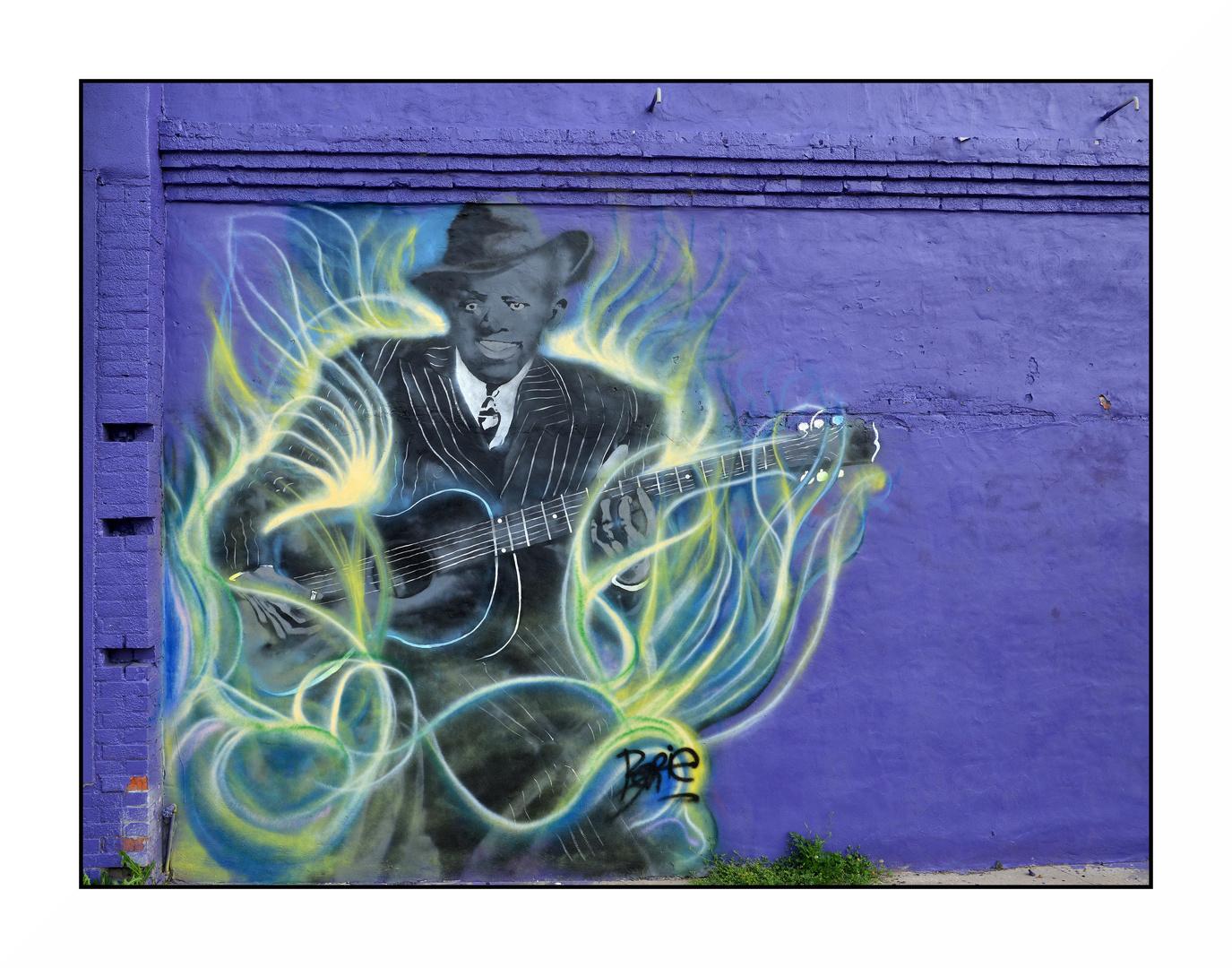 Wandbild in Clarksdale MS