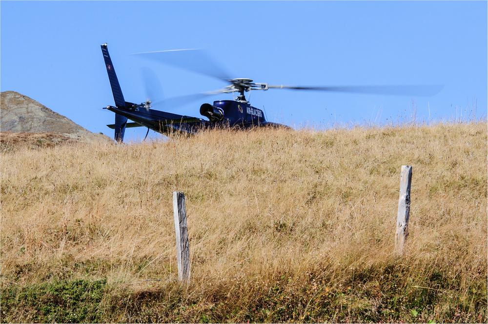 Wanderhelikopterstart