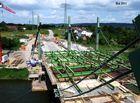 Wanderschalung beim Bau der A 30 Neu Werre- Brücke
