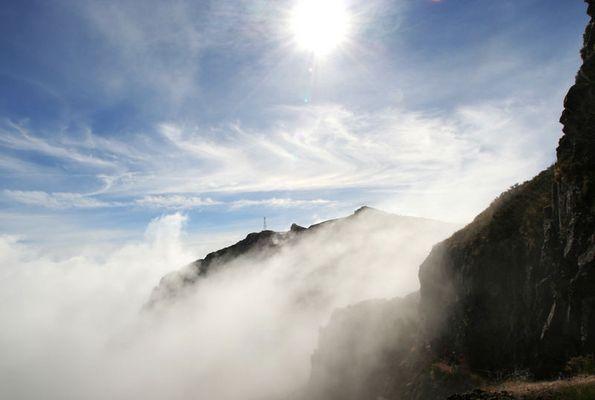 Wanderung am Pico do Arieiro, Blick zurück